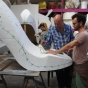 Giant shoe sculpt