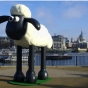 Shaun the Sheep polystyrene sculpt
