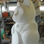 fortune-cat-polystyrene-carving