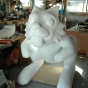 Polystyrene giant rabbit prop