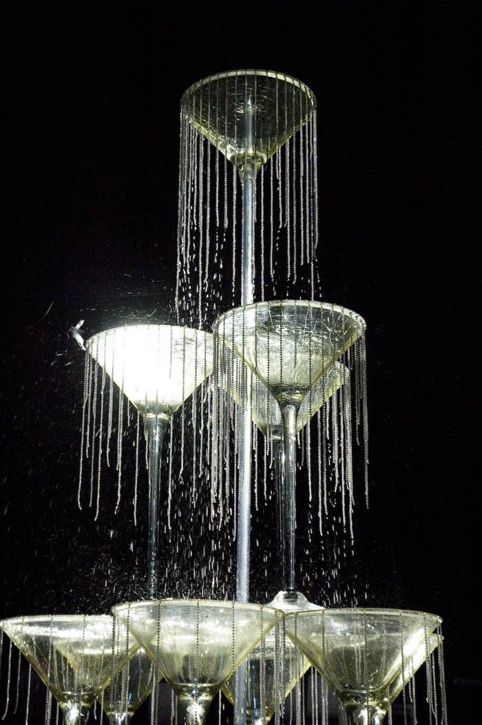 Glasses Champagne Fountain