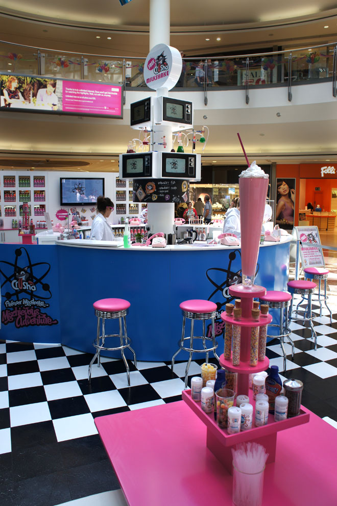 Plunge Productions Crusha Milkshake Bar Promotional Stand