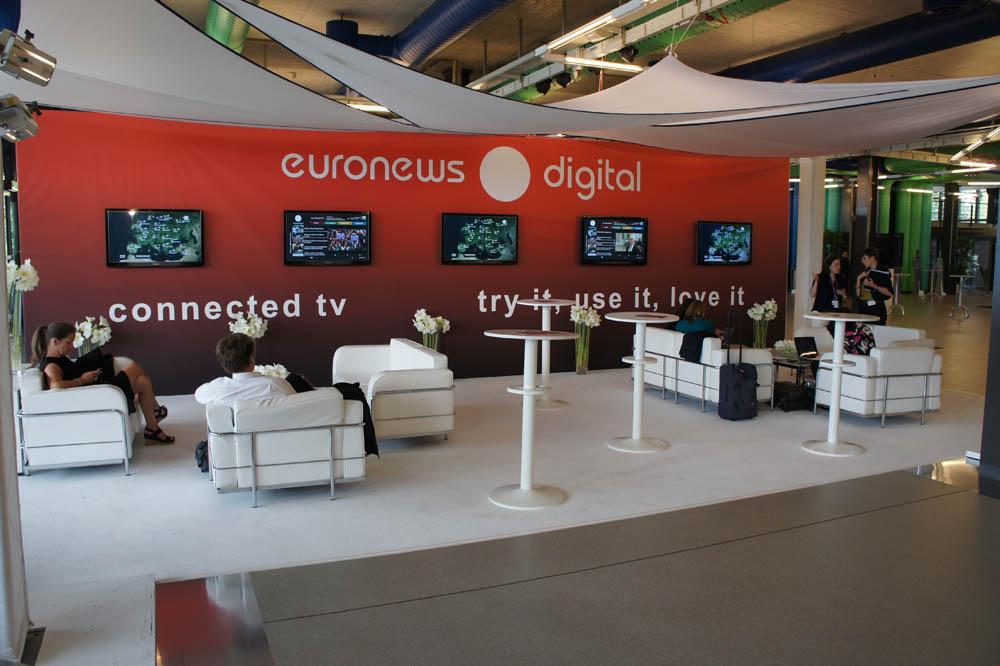 Euronews stand