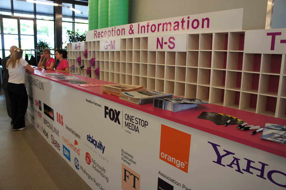 Festival of media reception desk