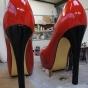 heels of giant shoe prop