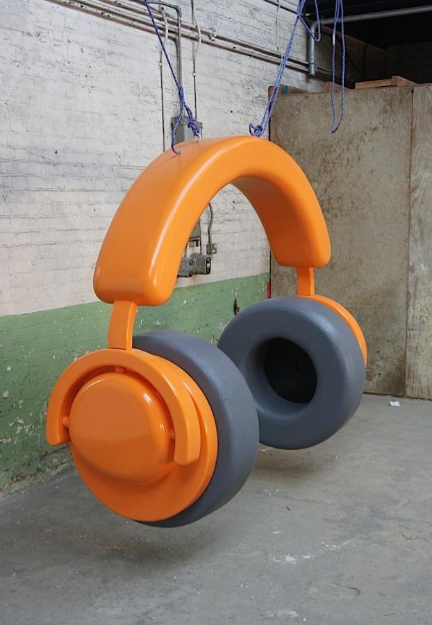 Plunge Productions Fibreglass Headphones Giant Prop