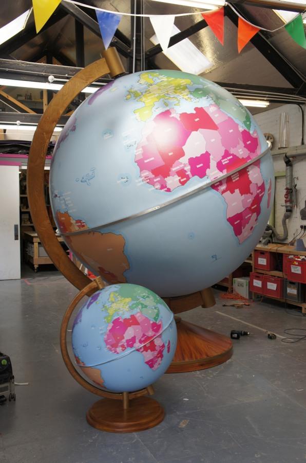 Large globe and giant globe props