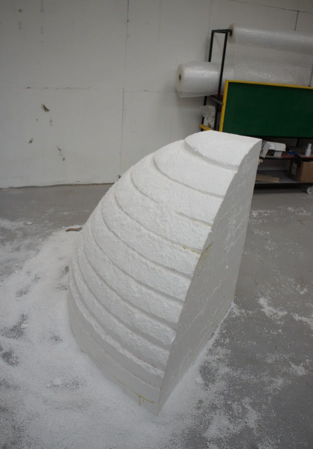 Carving the polystyrene