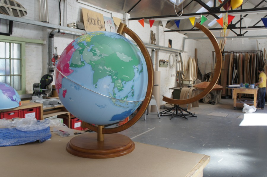 Large Globes in the making