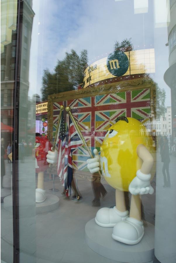 M&M World window display