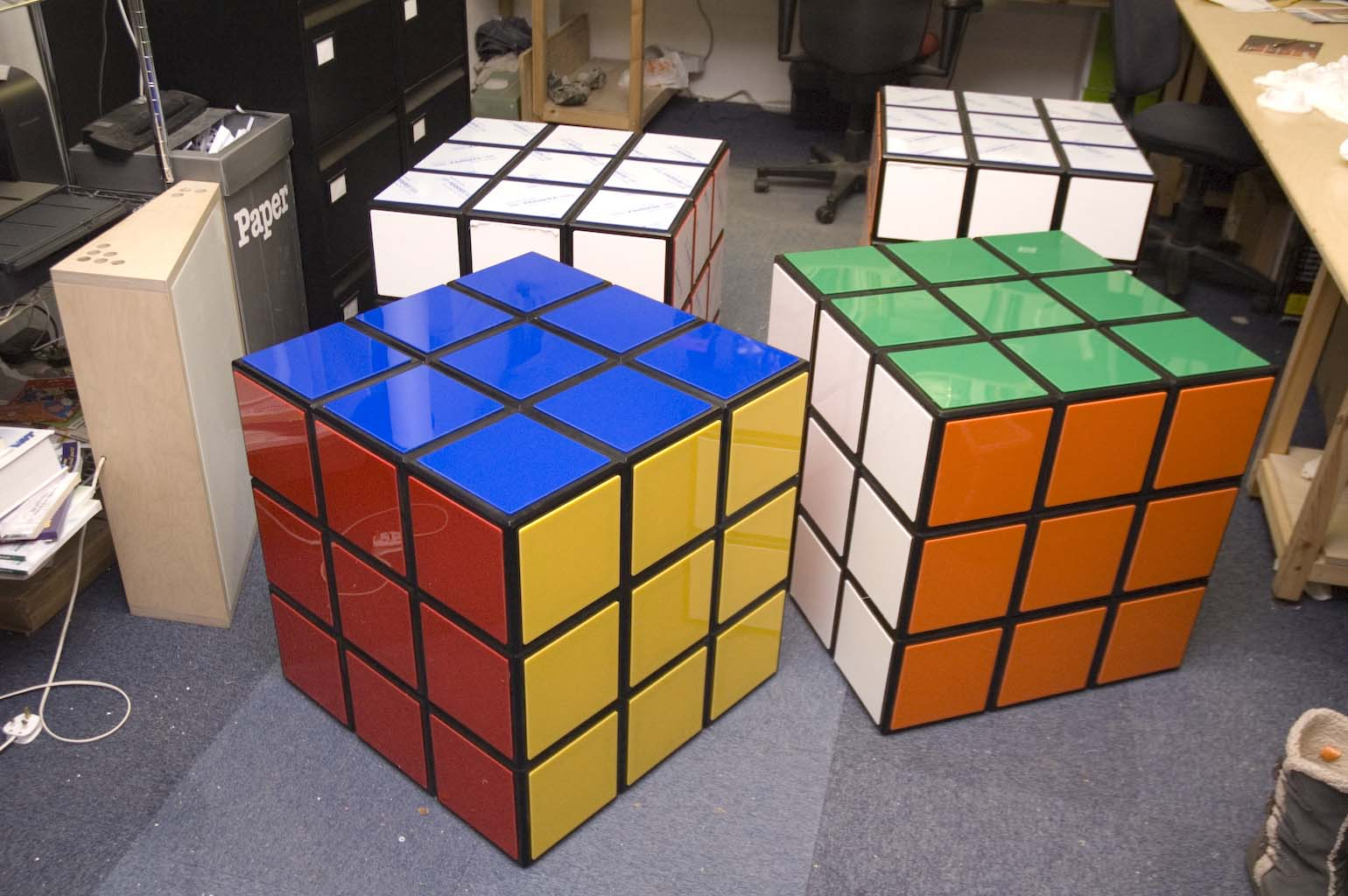 plunge productions giant rubik 39 s cube. Black Bedroom Furniture Sets. Home Design Ideas