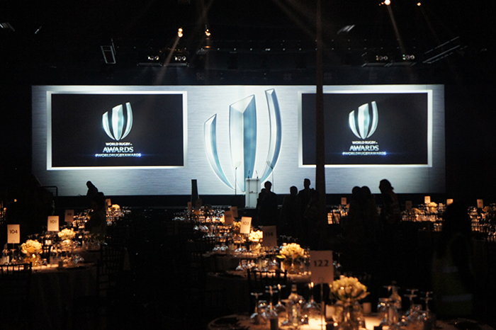Plunge Productions Rugby World Cup Awards 2015 Set Install