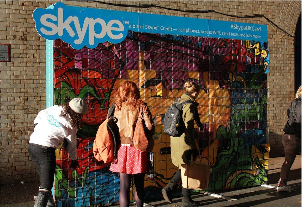 Skype slat wall display - Artwork by Mister Batlow