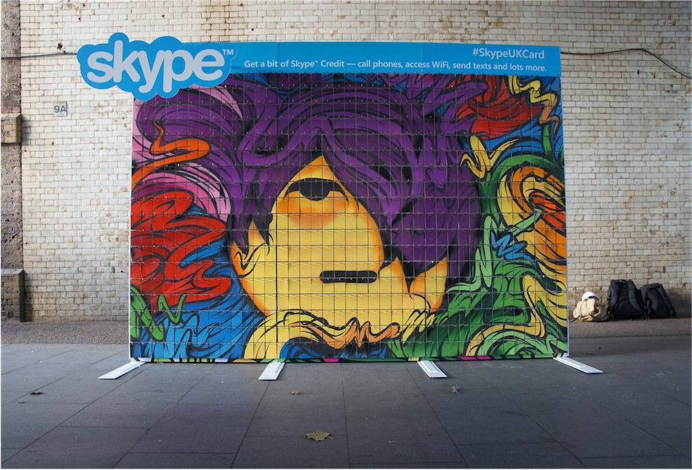 Skype gift card slat wall display - Artwork layer