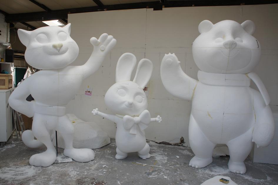 Polystyrene Sochi mascots