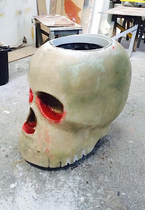 Plunge Productions Oversized Fibreglass Sugar Skull