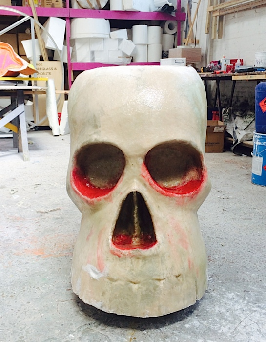 Plunge Productions Oversized Fibreglass Sugar Skull
