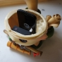 Teemo toy customised to be fitted with GoPro camera and GPS