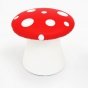 Small child size polka dot toadstool seat