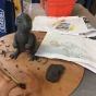 Christmasaurus Maquette Sculpture Prop