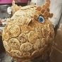 Dinosaur Sculpture Covered in Crumpets - Food Art