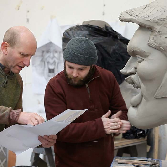 Clay sculpt Caricature Heads for ITV Big Heads