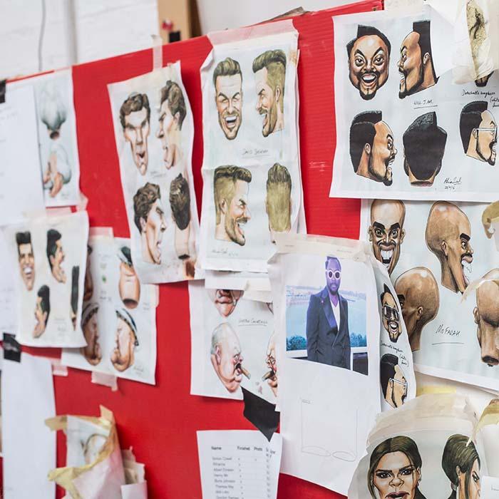 ITV Big Heads Prop Makers mood board