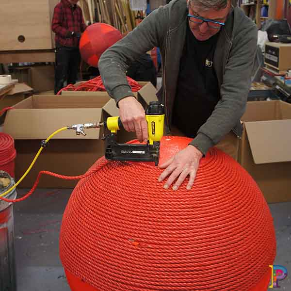 Giant red balls