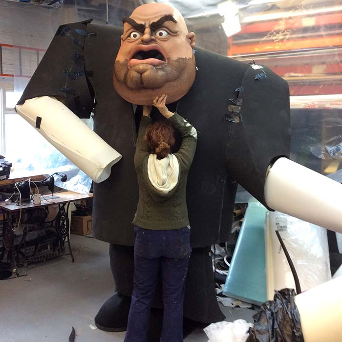 Prop makers of giant bouncers for ITV Big Heads