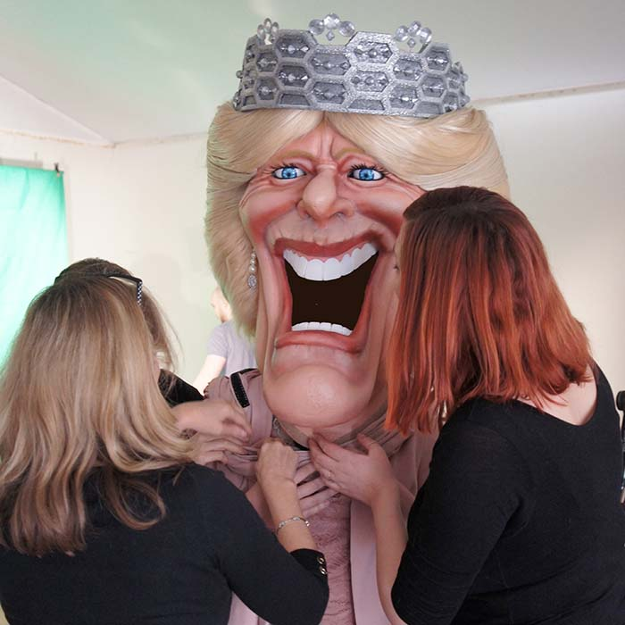 Caricature Head Costume of Camilla Parker Bowles for ITV Big Heads