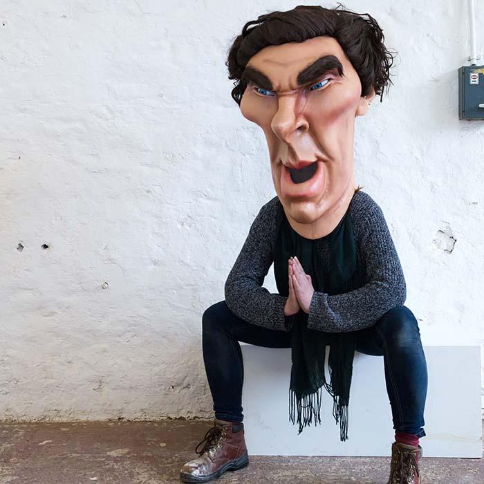 Caricature Head Costume of Benedict Cumberbatch for ITV Big Heads