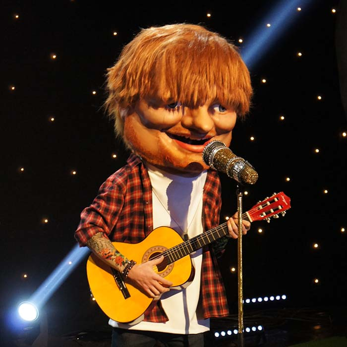 ITV Big Heads Ed Sheeran Mask