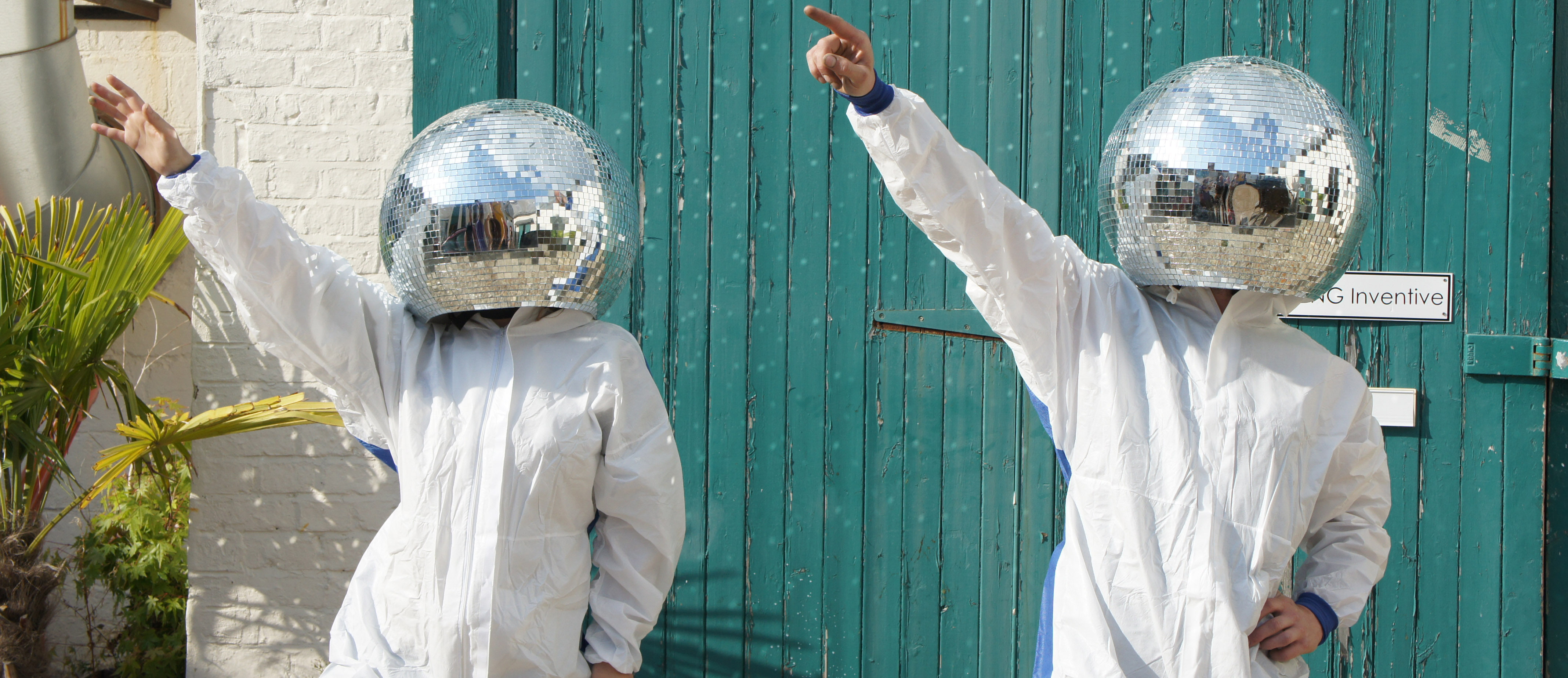 Mirror Ball Helmets