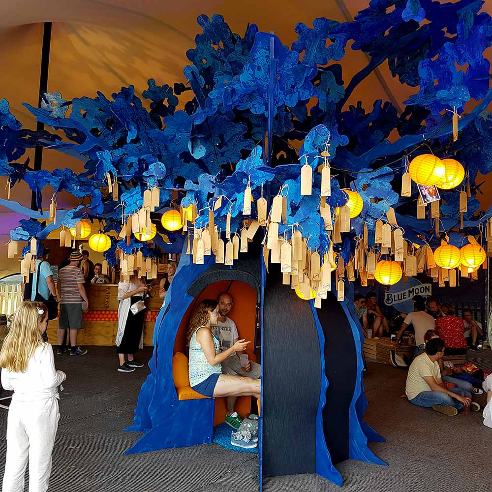 Blue Moon Wishing Tree at Blue Dot Festival