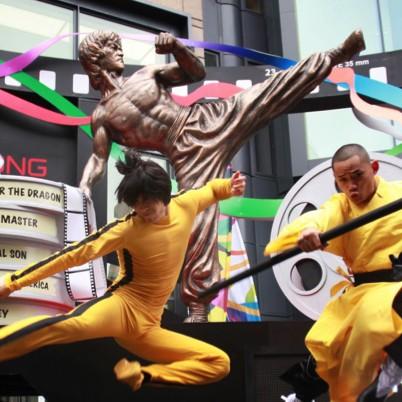 Giant Bruce Lee Sculpture