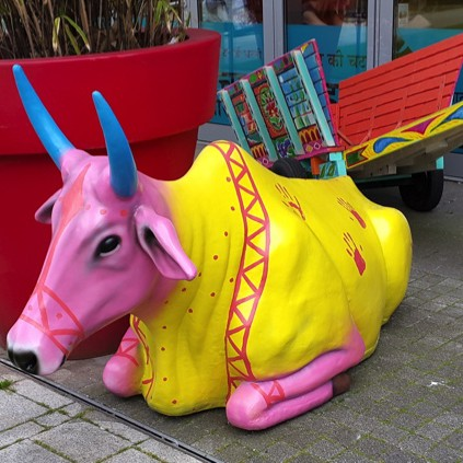 Fibreglass cow for Chilli Pickle