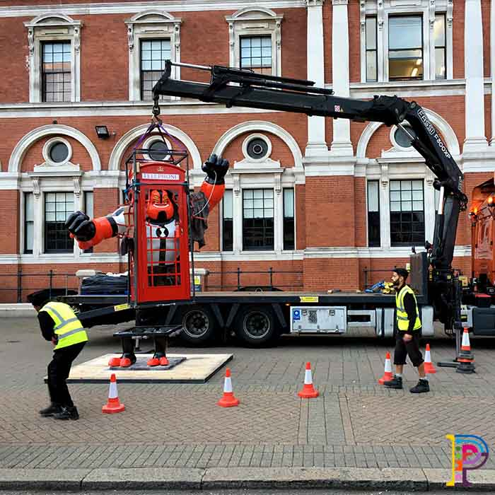 Giant prop sculpture for Cartoon Network promotional marketing of Ben 10