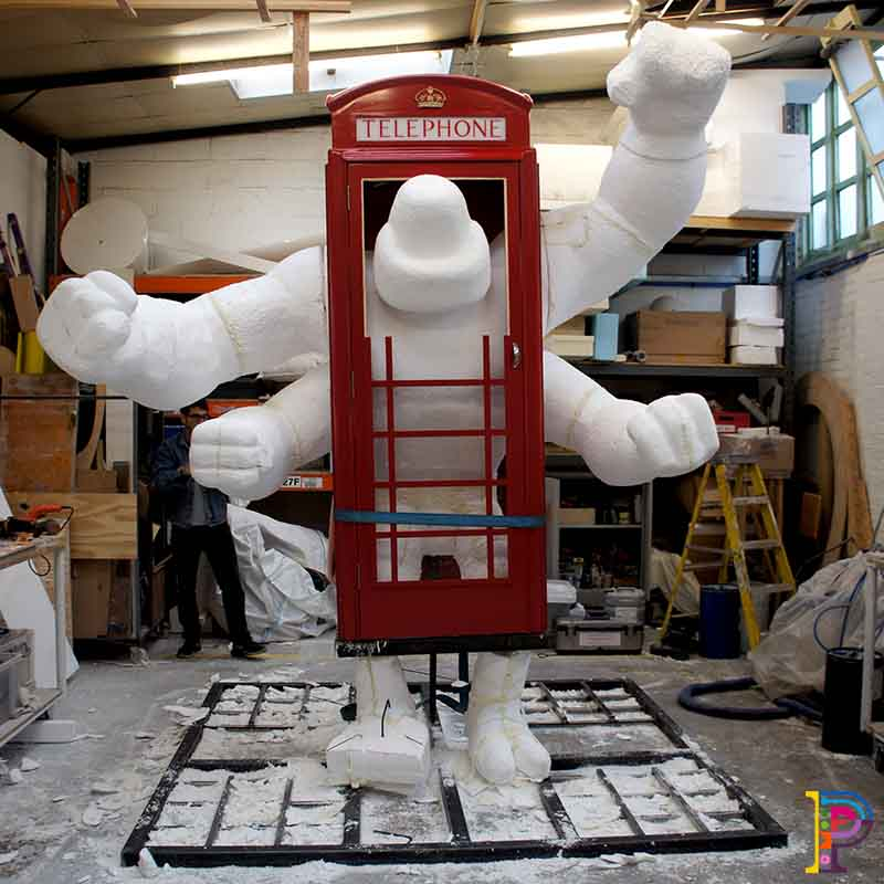 Giant polystyrene sculpture of Ben 10 Four Arms