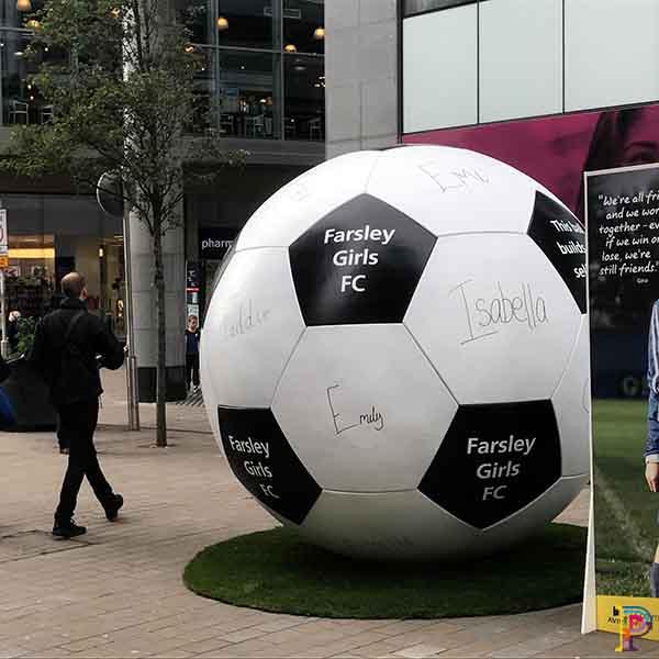 Giant football prop