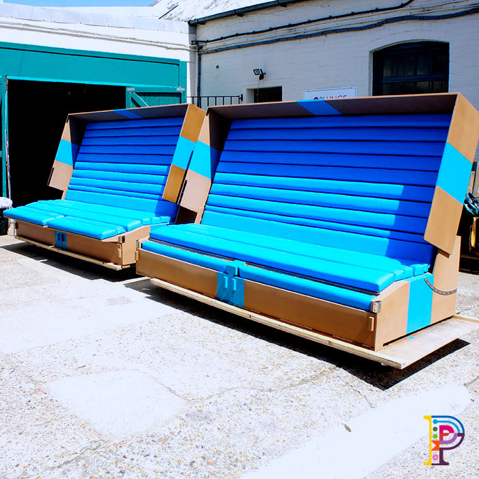 Custom made branded benches