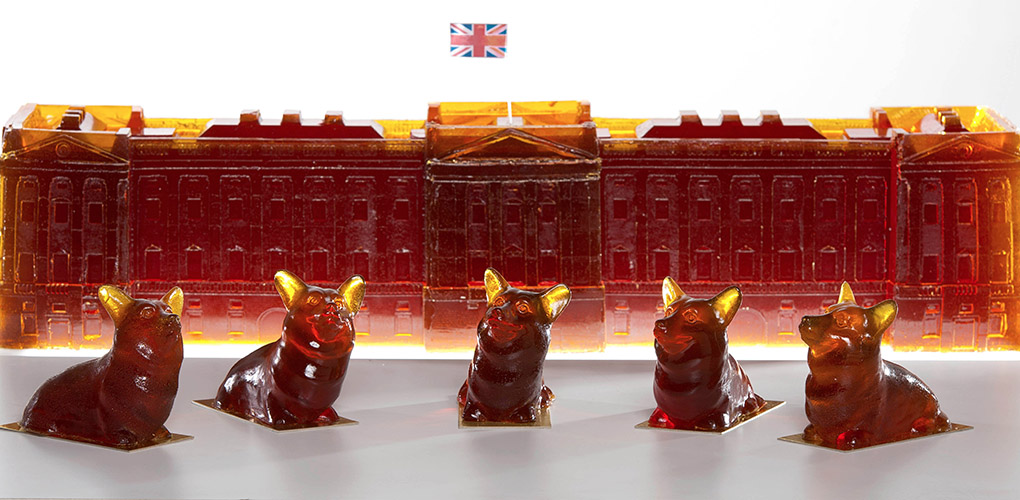 Buckingham Palace created in Pimms Jelly