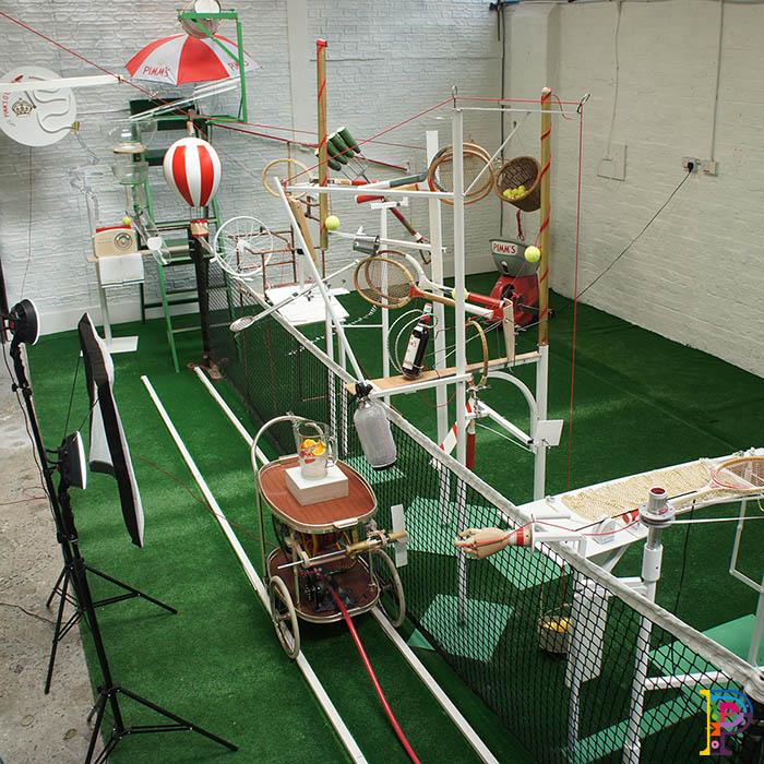 Promotional Rube Goldberg Machine for Pimm's