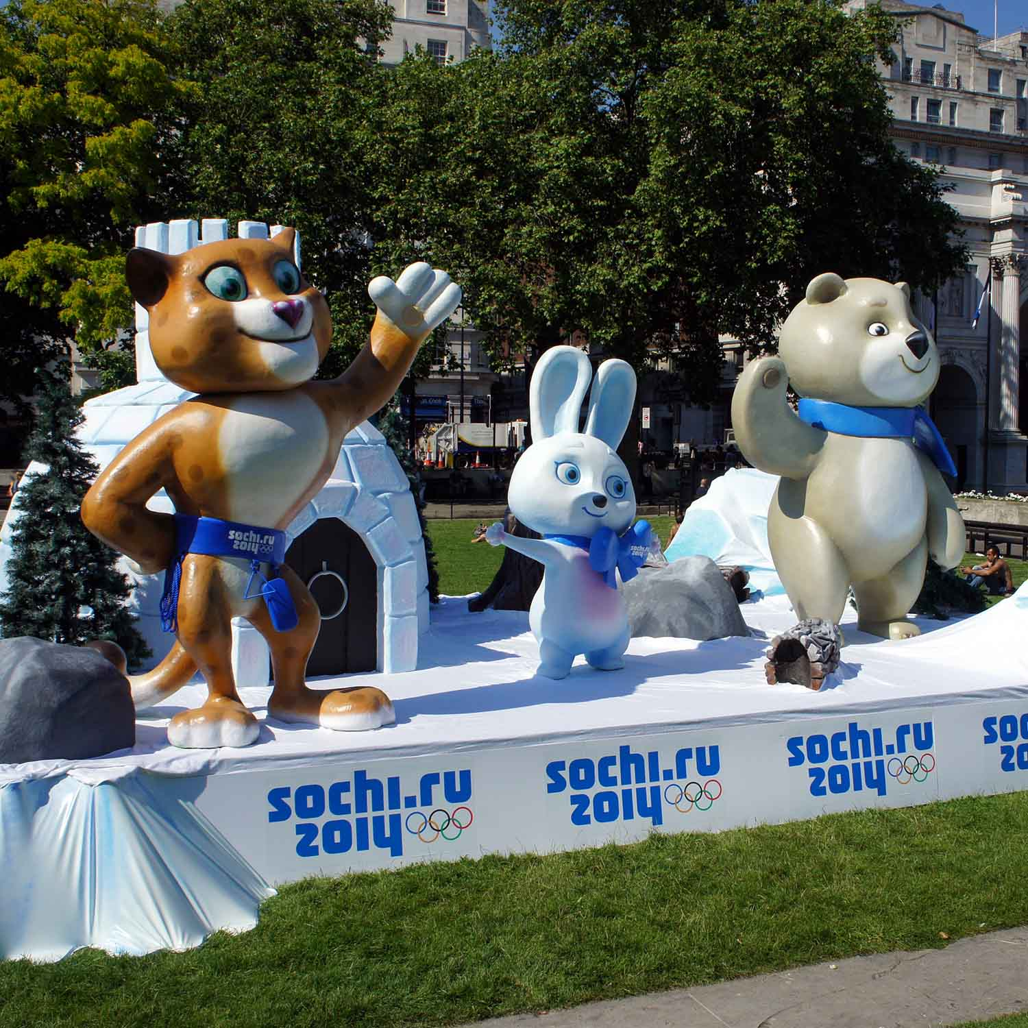 Mascot Sculptures for Olympics 2014