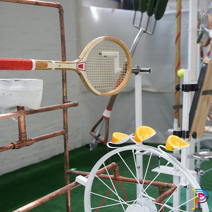 Rube Goldberg Machine Tennis Themed
