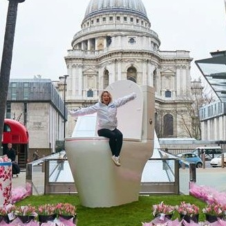 Promotional stand giant Toilet