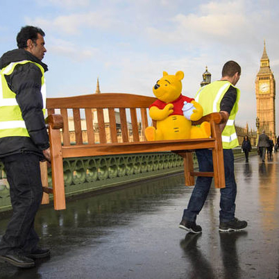 Winnie the Pooh touring interactive bench
