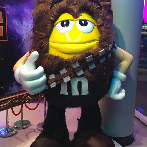 Chewbacca from Star Wars costume for M&M Store