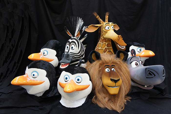 Madagascar stage production costumes