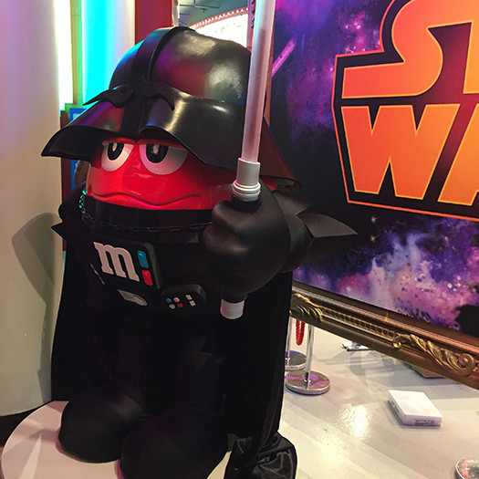 Darth Vader from Star Wars costume for M&M Store