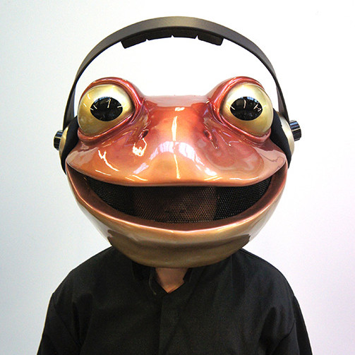 Fibreglass toad mask for Vimtoad